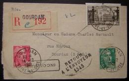 Dourdan 1948 (Seine Et Oise) Lettre Recommandée Avec Retour à L'envoyeur (inconnu) De Maître Jean Chanson - Poststempel (Briefe)