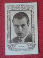 ANTIGUO CROMO OLD COLLECTIBLE CARD ACTOR DE CINE ACTEUR HOLLYWOOD GARY COOPER USA PUBLICIDAD MAGNESIA ROLY VER FOTO/S - Cromos