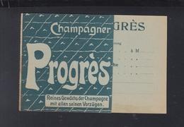 PK Champagner Progres - Werbepostkarten