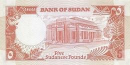 Sudan P.45  5 Pounds 1991  Unc - Soudan