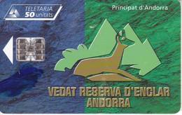 AND-095 TARJETA DE ANDORRA DEL VEDADO DE ENCLAR (REBECO-DEER) - Andorra