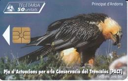 AND-143 TARJETA DE ANDORRA DE EL QUEBRANTAHUESOS (BIRD-PAJARO) - Andorra