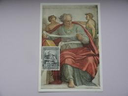 CARTE MAXIMUM CARD  PROFETA JOEL  BY MICHELANGELO BUONAROTTI  VATICAN - Religione