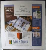 Yvert Et Tellier - JEU MONACO S.C 1999 (Avec Pochettes) - Albums & Reliures