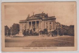 Wiesbaden Konigi Theater Mit Schillerdenkmal - Niederwiesa