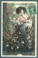 CPA - POISSON D'AVRIL - JEUNE FEMME - 1er Avril - Poisson D'avril