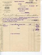 Cie FRANÇAISE D'ALIMENTATION- J. PREVET- PARIS 1927 - Alimentos
