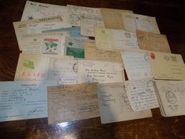 Esperanto - Lot De 46 Cartes Postales 1936 37 Courrier Adressè à La Foire De Lyon - Esperanto