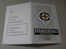 Calendrier De Poche 1971 Essenbeek-Halle - Spaarcentrale - Calendriers