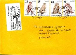 TAÏWAN. N°3460-3 De 2012 Sur Enveloppe Ayant Circulé. Hibou/Chouette. - Hiboux & Chouettes