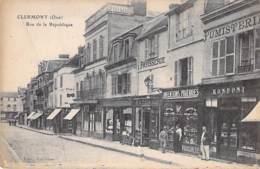 60 - CLERMONT : Rue De La République ( Animation Commerces ) CPA - Oise - Clermont