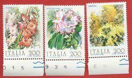 Italia 1983; Fiori D' Italia , 3° Serie.Serie Completa, Francobolli Di Bordo Inferiore. - 6. 1946-.. Repubblica