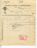 SÉCHERIES DE MORUES- LA MIQUELONNAISE- BÈGLES -1928 - Alimentos