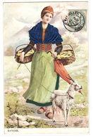 73 - SAVOIE - FEMME - COSTUME EN RELIEF - CHÈVRE - Illustrateur H. Watzal - Sin Clasificación
