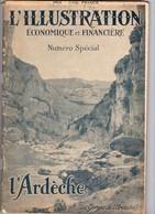 L ILLUSTRATION ECONOMIQUE ET FINANCIERE L ARDECHE 1925 - Rhône-Alpes