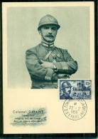 CM-Carte Maximum Card # 1956-FRANCE # Histoire # Célébrités  # Colonel Driant , écrivain ,homme Politique # Paris - Maximumkarten