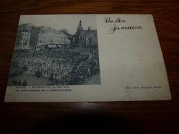 BC8-54 Rare Cpa Binche Souvenir De La Cantate 75ème Anniversaire De L'indépendance Ed Fern Bourgeois - Binche