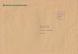 GOOD Postal Cover SWEDEN To ESTONIA 1994 - Postage Paid - Sweden