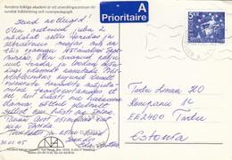 GOOD SWEDEN Postcard To ESTONIA 1995 - Good Stamped: Svea / Lion - Sweden