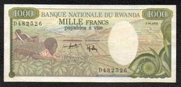 1000F RWANDA - Rwanda