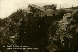 GUEBWILLER Ou SOULTZ ? Grand-Ballon Ancien Hôtel - Ruines De La Grande Guerre Carte Photo N 36 J Kuntz Guebwiller - Guebwiller