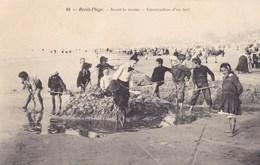 Pas-de-Calais - Berck-Plage - Avant La Marée - Cnstruction D'un Fort - Berck