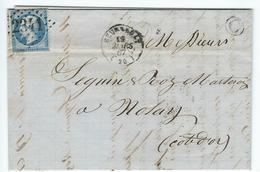 Meursault- Nolay- Boite Rurale C De St ROMAIN - 1867 - Barolet Taupenot - Vin- Eau De Vie. - Marcophilie (Lettres)