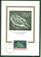 CM-Carte Maximum Card # 1974 -Vatican #  The Bible, Die Bibel  # God Appeases Hunger Of His People - Maximumkarten (MC)
