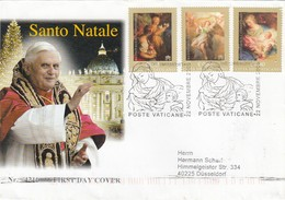 GOOD VATICAN FDC 2005 To GERMANY - Christmas - FDC
