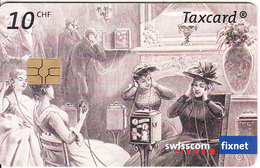 SWITZERLAND - 150 Years Of Telecommunications 2/The Teatrophone In Paris 1892, Chip GEM3.3, 10/03, Used - Schweiz
