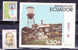 ECUADOR 1985 INGENIO VALDEZ SUGAR REFINERY SOUVENIR SHEET & FULL SET MNH SC# 1082 A-B 1083 - Ecuador