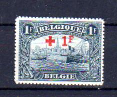 1918   Belgique, Croix-Rouge, 160**, Cote 125 €, Bateaux Ships Boten Antwerpen - 1918 Croix-Rouge