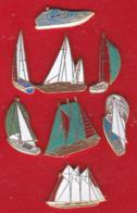 59268-lot De 8 Pin's.Voiliers.bateau.Marine.. - Pin's