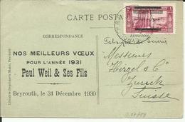 LEBANON 1930 POSTCARD. - Liban