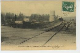 ALENÇON (environs) - SAINT DENIS SUR SARTHON - La Gare Et Villa PRINTANIA (belle Carte Toilée ) - France
