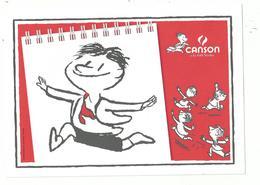 """1 BUVARD Publicitaire CANSON..illustré """" Le Petit Nicolas """"......à Voir - Advertising"""