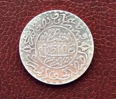 MAROC MOROCCO MARRUECOS   MOULAY HASSAN 1ST  2 1/2 DIRHAM (1/4 RIAL) 1310 PARIS SILVER COIN - Morocco