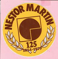 Sticker - 125 Jaar NESTOR MARTIN - 1854 1979 - Autocollants