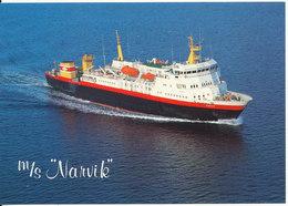 Norway Postcard Nordkapp 14-9-1985 (M/S Narvik Ofotens Dampskibsselskap) - Norwegen