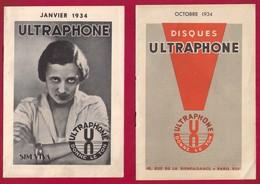 Musique. 3 Catalogues Illustrés Des Disques  ULTRAPHONE 1934.   SIM VIVA. - Musique & Instruments