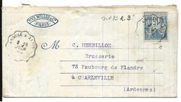 GARD Convoyeur Sur 15c Sage 1890 ANDUZE à ALAIS   ...G - Poststempel (Briefe)