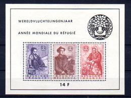 1960  Belgique, Année Mondiale Du Réfugié, BF 32**, Cote 85*, - Blocks & Sheetlets 1924-1960