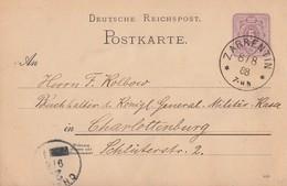 DR Ganzsache K1 Zarrentin 8.8.88 - Deutschland