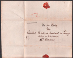 1812 Nürttingen Faltbrief Mit Viel Inhalt Frei, Vorphilatelie, An Den König Zm Königlichen Departement Der Finanzen - Germania
