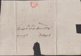 1832 Barlingen Faltbrief Mit  Inhalt Frei, Vorphilatelie, An Waisenhauspflege Stuttgart, Waisenhaus Sache - Germania