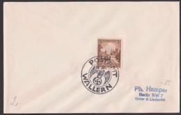Wallern Sudetenland, Postamt Mit Adler  Volary Sudeten, Drucksache 1938 - Sudetes
