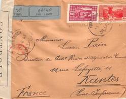 LIBAN - Lettre Timbrée De 1945 ( Cachet Et Timbres Republique LIBANAISE ) Sous Controle - Liban
