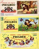 3 Buvards PHILBEE - Le Bon Pain D'épices De Dijon  -  Le Petit Ours  Philbée - Pain D'épices