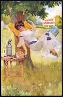 ADVERTISING CARD - PUBLICITE Art Nouveau - GLASS SYPHON - AERATOR BOTTLE ( Trading Started In Crayford Kent 1896 ) - Publicité