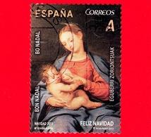 SPAGNA - Usato - 2013 - Natale - Christmas - Donna Che Allatta Al Seno Bambino - A - 2011-... Usati